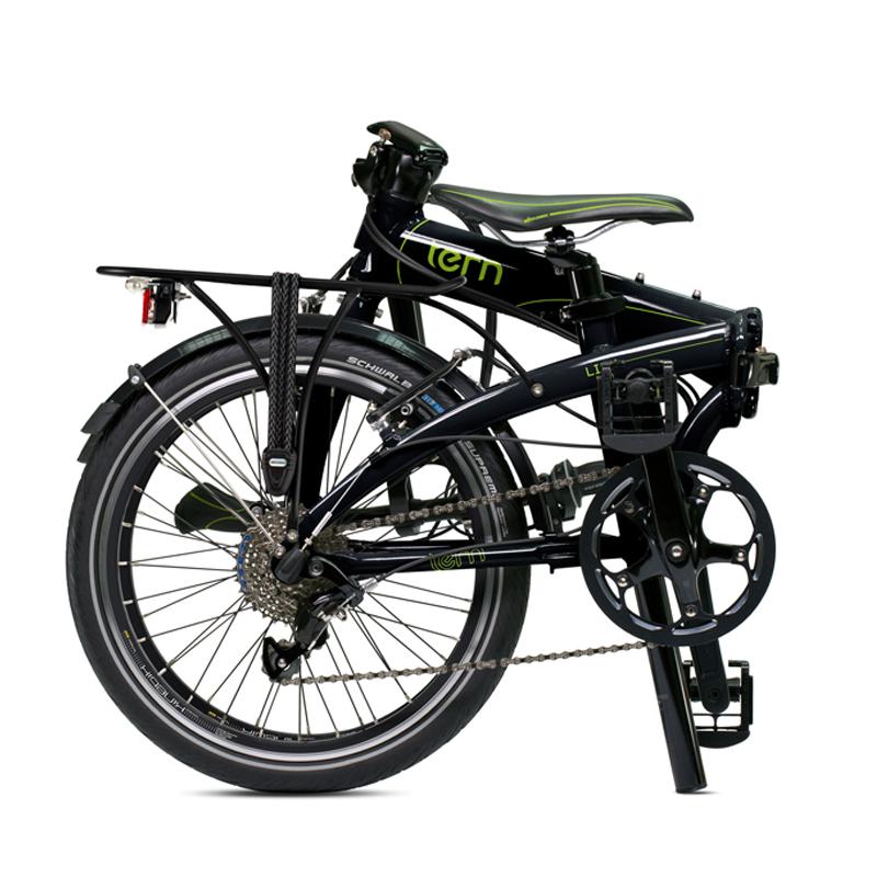 Bicicleta-Urbana-Link-P24-negro-verde-plegable1
